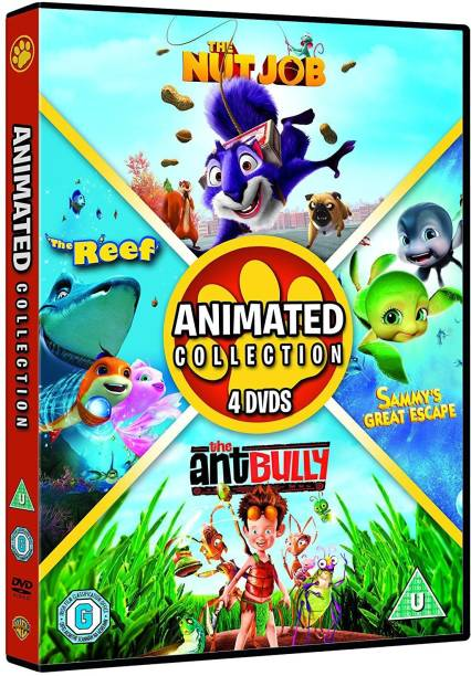4 Animated Movies Collection: The Nut Job + Sammy's Great Escape + The Antbully + The Reef (4-Disc Box Set) (Fully Packaged Import) (Region 2)