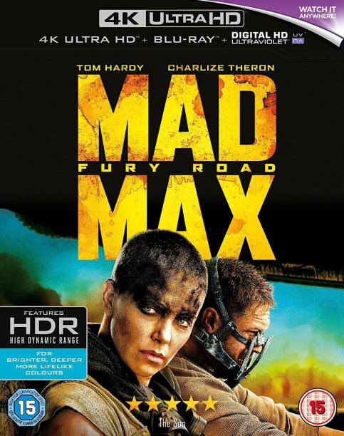 Mad Max: Fury Road (4K UHD + Blu-ray + Digital HD + UV) (2-Disc Box Set) (Region Free + Slipcase Packaging + Fully Packaged Import)