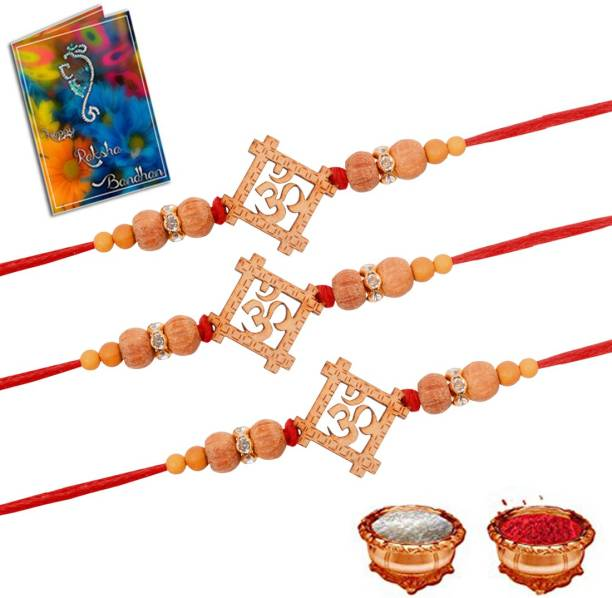 Gift4You Scented Rakhi, Greeting Card, Chawal Roli Pack  Set