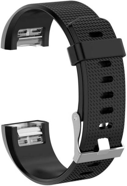 CellFAther Watch Band Replacement Wristband Strap for Ftbit Charge 2 Black Smart Watch Strap