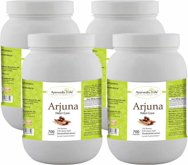 Ayurvedic Life Arjuna 700 Capsules Value Pack of 4