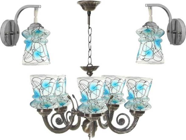 VAGalleryKing Matching Glass Wall Light With Chandelier Combo Pack In Home Décor Light Chandelier Ceiling Lamp