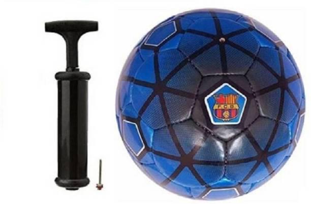 DIBACO SPORTS COMBO FCB FOOTBALL WITH AIR PUMP Football Kit