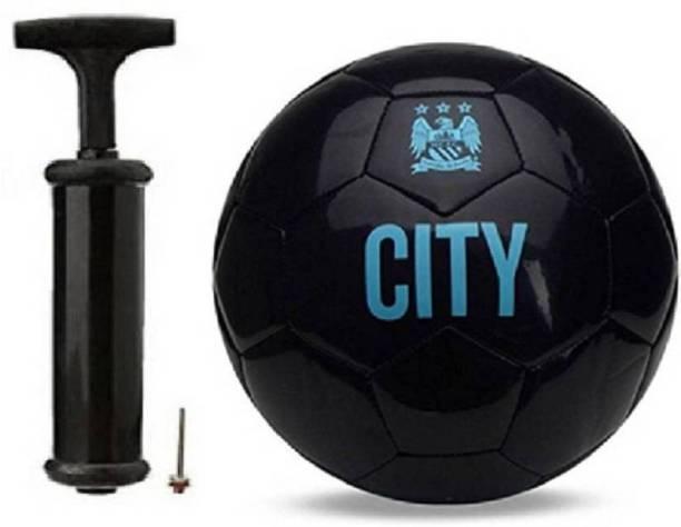 DIBACO SPORTS COMBO BLACK CITY FOOTBALL WITH AIR PUMP Football Kit