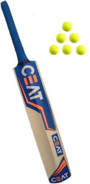 CreativeCorner RS NEW TANNIS POPULER CRICKET BAT (CEAT BAT+6 RED BALL) Cricket Kit