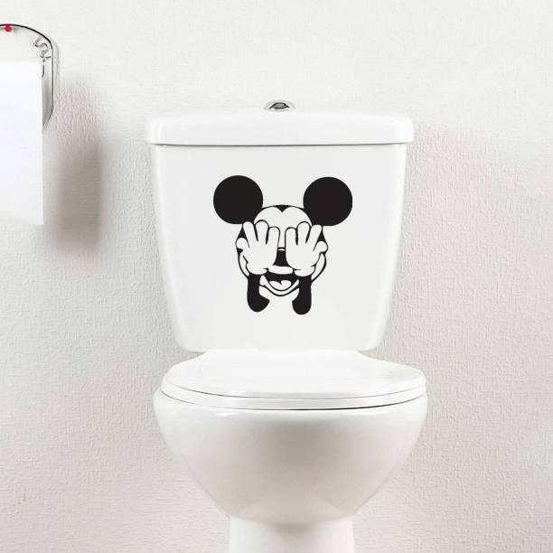 100yellow Small Pvc Vinly Funny toilet sticker_277