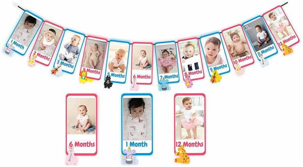 SYGA 1 to 12 Month Music Theme Animal Banner Banner