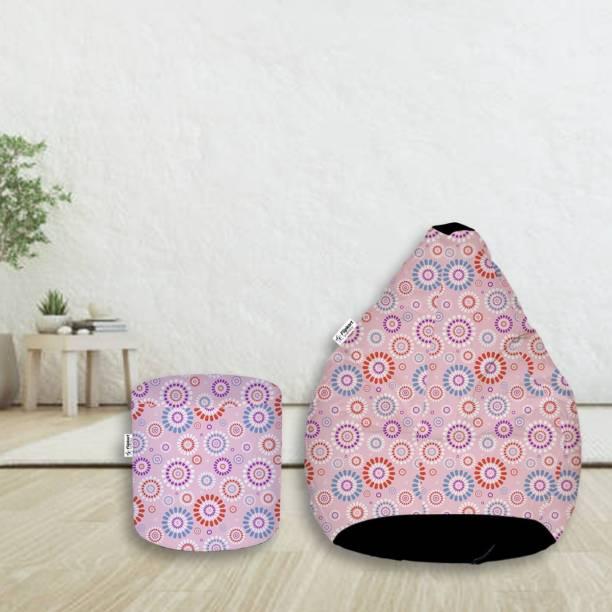 Flipkart SmartBuy XXXL Digital Printed Teardrop Bean Bag  With Bean Filling