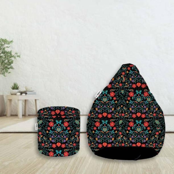 Flipkart SmartBuy XXL Digital Printed Teardrop Bean Bag  With Bean Filling