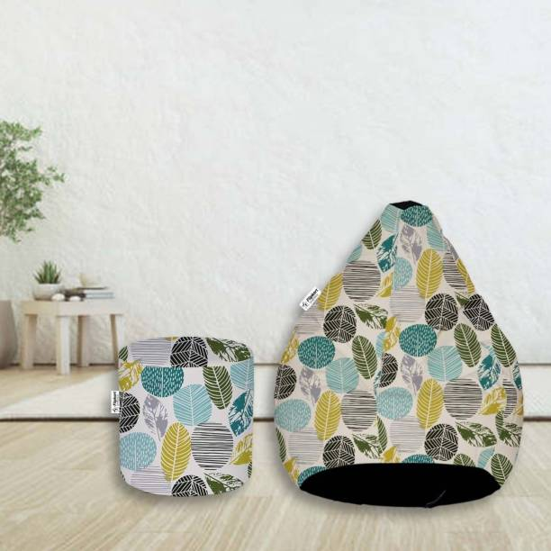 Flipkart SmartBuy XXXL Digital Printed Teardrop Bean Bag  With Bean Filling