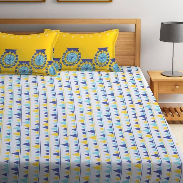 Flipkart SmartBuy 104 TC Cotton Double Geometric Bedsheet