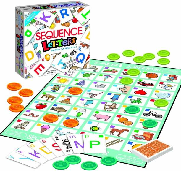 jk int Sequence Letter Game - Sequence Game from A-Z for Kids & Teenagers Indoor Sports Games Board Game