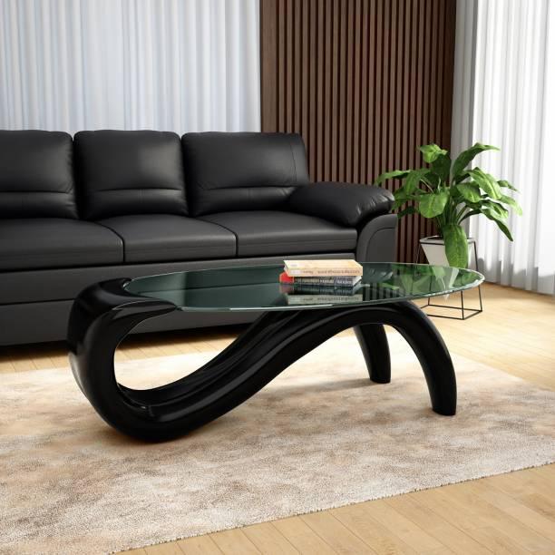 Godrej Interio CAFERIA COFFEE TABLE BLACK Glass Coffee Table