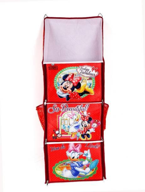 PIKIPOO Presents Disney Brand Baby Hanging MDF Collapsible Wardrobe