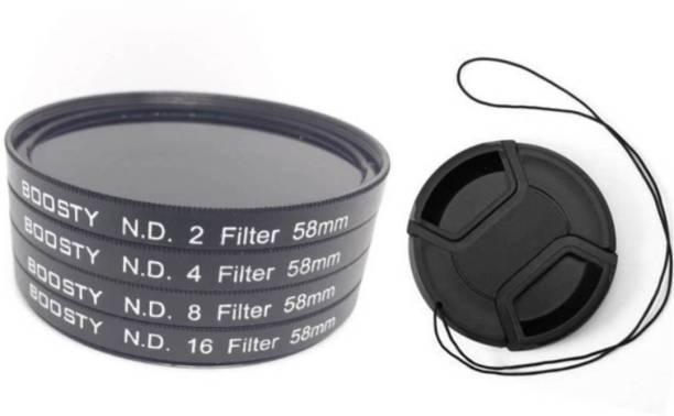 BOOSTY 58mm Neutral Density ND Filter 2/4/8/16 Kit ND Filter
