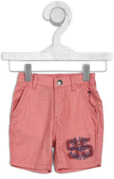 GINI & JONY Short For Boys Casual Solid Cotton Blend