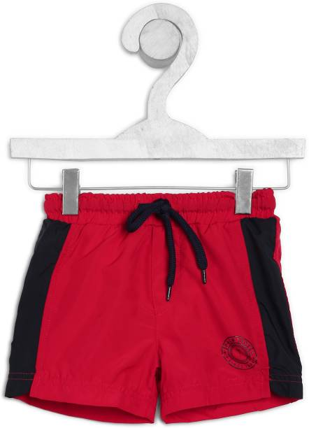 GINI & JONY Short For Boys Sports Solid Polyester