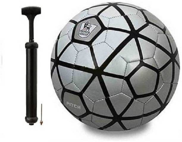 DIBACO SPORTS COMBO SILVER PITCH FOOTBALL WITH AIR PUMP Football Kit