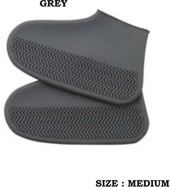 TASHKURST Anti-slip Shoe Covers Reusable Waterproof Grey shoes Cover Silicone grey Boots Shoe Cover