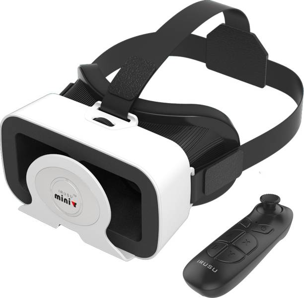 IRUSU Minivr VR headset with remote and 42mm HD lenses.Best 3d Virtual reality headset for smart phones