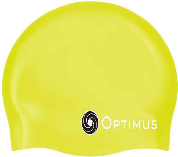 Optimus Unisex Swimming Non-Slip Highly Durable Silicon Cap - Yellow Swimming Cap