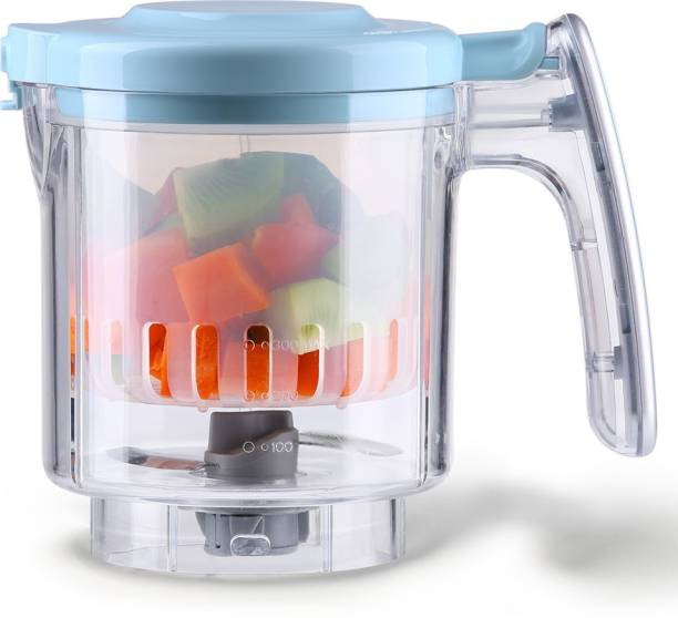 Kiddale Baby Food Processor Tritan Stir Cup SET with steam basket and blade- An Accessory for Food Processor
