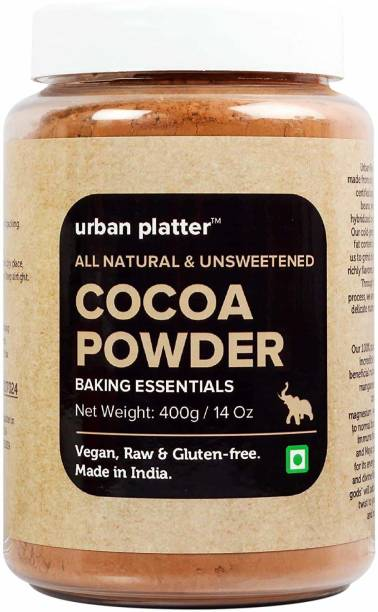 urban platter Natural Cocoa Powder, 400g Cocoa Powder