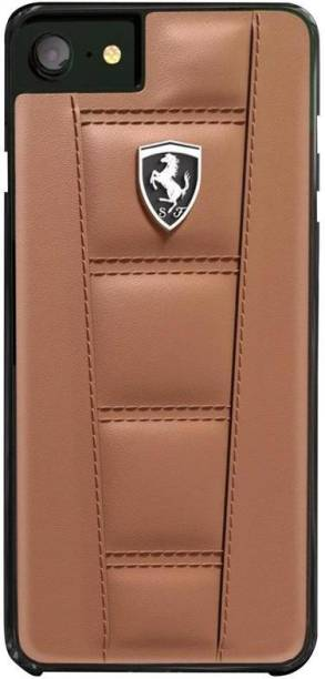 Ferrari Back Cover for Apple iPhone 7/ iPhone 8 Official 458 Double Stitched Dual-Material PU Leather Case