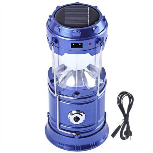 GoodsBazaar XF 5800T 6 + 1 LED Solar Emergency Light Lantern, USB Mobile Charging 2 Power Source Solar, Lithium Battery (Color Will Be As Per Stock) Solar Light Set