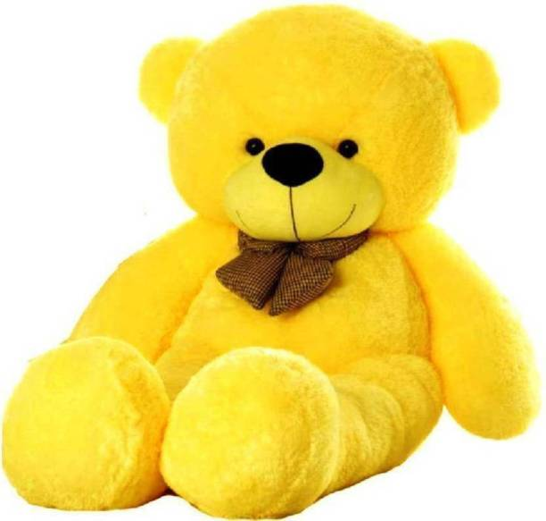 HappyChild amazing teddy bear (YELLOW COLOR 4 FEET )  - 120.5 cm