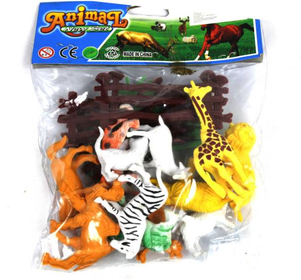 Toyswala Mini Jungle Animal Toys Figure Playing Set for Kids (Pack of 12)