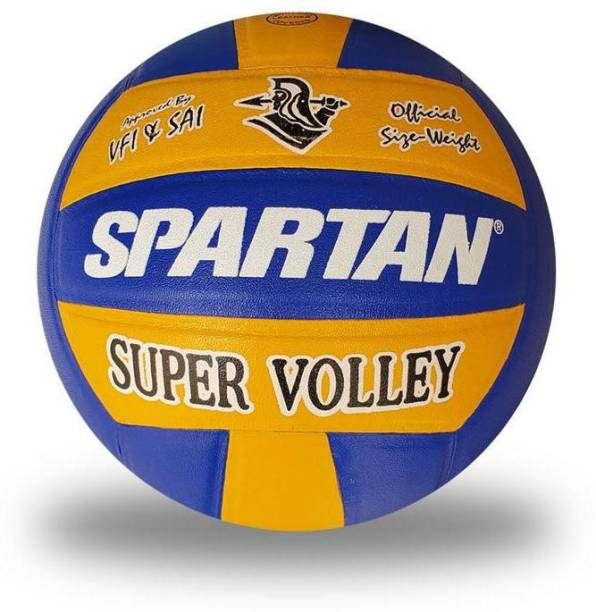 Spartan Super Volley Leather Volleyball - Size: 4