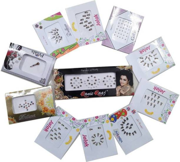Antier Indian Style Smallest Size Rare Collection Colored Bindi women Multicolor Bindis