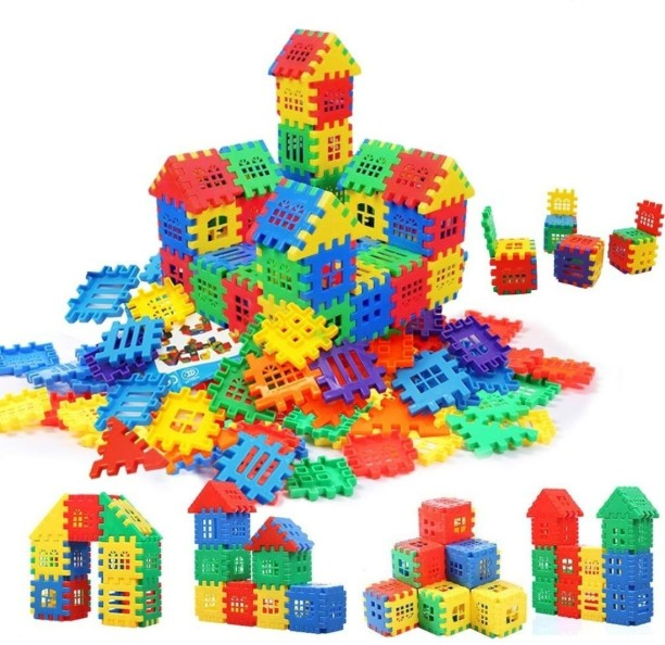 Bloks First Builders Big Building Bag 60 Blocks Mulit Coloured Creative