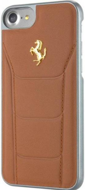 Ferrari Back Cover for Apple iPhone 7 Official 599 GTB Logo Double Stitched Leather Case