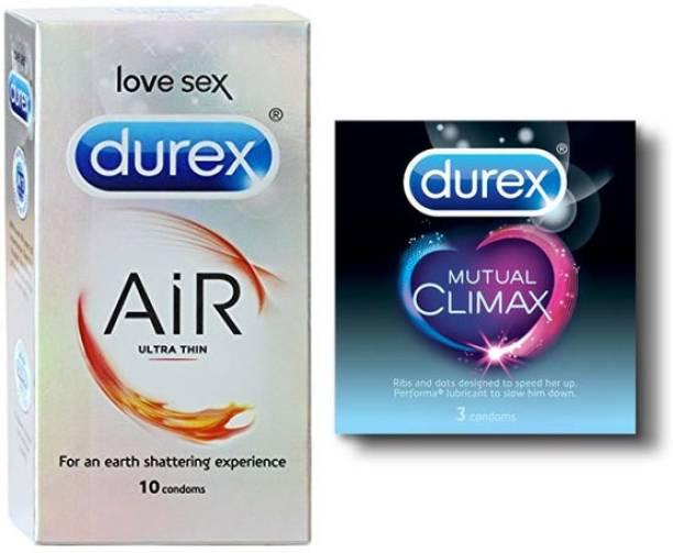 DUREX AiR Ultra Thin, & Mutual Climax PassionRaja.com (13 Condoms) Combo Pack Condom