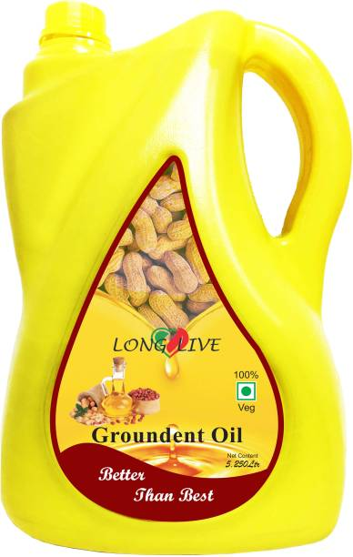 Long Live Cold Pressed (Virgin, Chekku/Ghani) Groundnut Oil Can