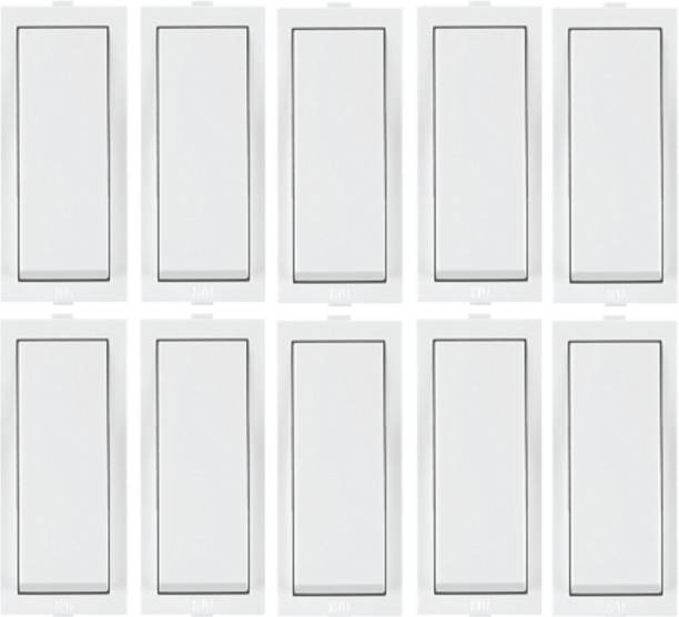 ANCHOR ROMA WHITE, 10AX, 1 WAY SWITCH (Pack of 10) 10 A One Way Electrical Switch
