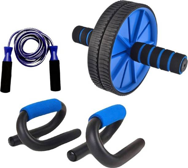 Proactive Sports & Fitness Ab Wheel Exerciser, Push Up Bar & Jump Rope Perfect Gym & Fitness Kit