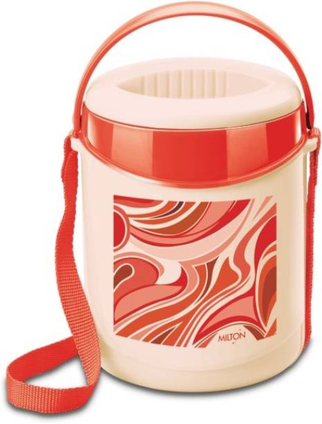 MILTON Econa 3 Container Lunch box, 300 ml, Red 3 Containers Lunch Box