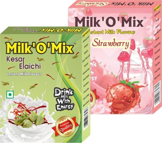 Milk'O'Mix Kesar Elaichi and Strawberry Flavored Milk Powder