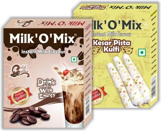 Milk'O'Mix Cold Coffee and Kesar Pista Kulfi Flavored Milk Powder