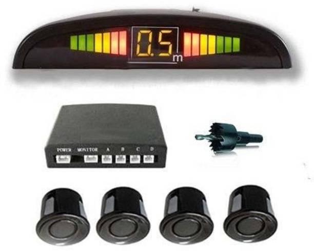 AllExtreme EXRPSFC Car Reverse 4 Parking Sensor with LED Display Parking Sensor