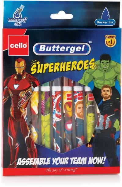 cello Buttergel Superheroes Gel Pen