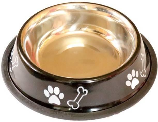 furryangels Dog bowl medium 700 ml ROUND Steel Pet Bowl
