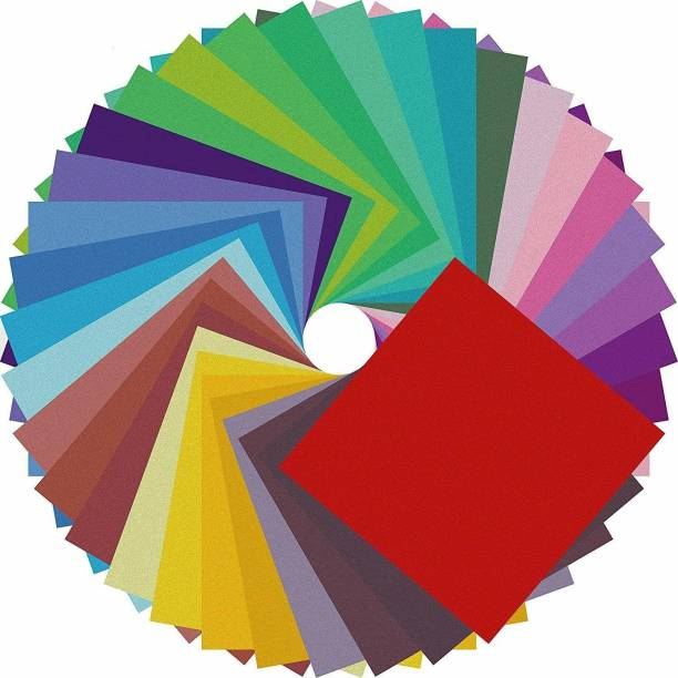 Aadya Crafts Origami Paper Double Sided Color - 200 Sheets - 6 Inch Square Theme,  Scrapbook Kit