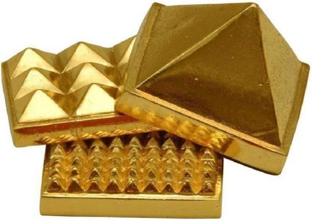 Astrodidi Three Layer / 3 Stage / Multi Layer Vastu Pyramid for Vastu Rectification Decorative Showpiece  -  4 cm