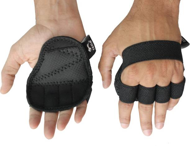 CEELA Weight Lifting Gym Grips Pads Hand Training Bar Straps Wrap Glove Gym & Fitness Gloves
