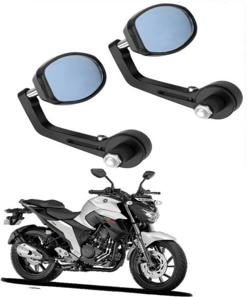 BRPEARl Manual Rear View Mirror, Dual Mirror, Driver Side For Yamaha FZ-S