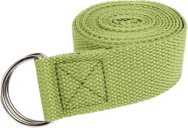 Fitguru SBM01262019 (Green Straps) Cotton Yoga Strap